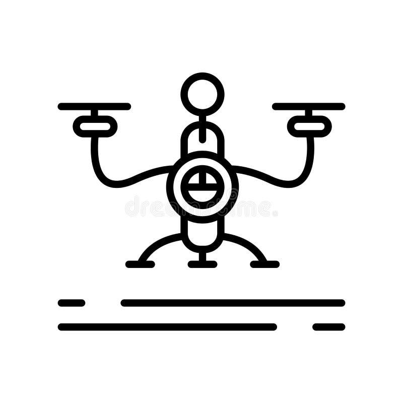 寄生虫在白色背景、寄生虫标志、线标志或在概述样式的线性元素设计隔绝的象传染媒介 向量例证