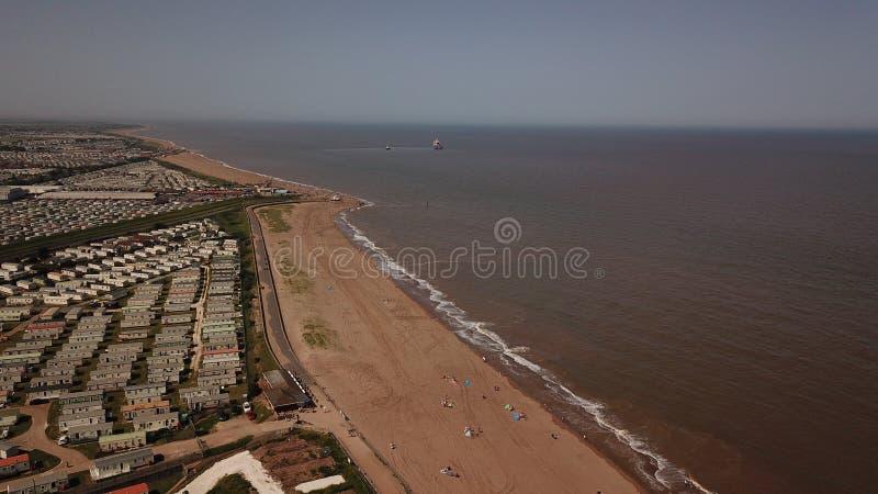 寄生虫照片ingoldmells海滩度假胜地英国海岸线夏天 库存图片