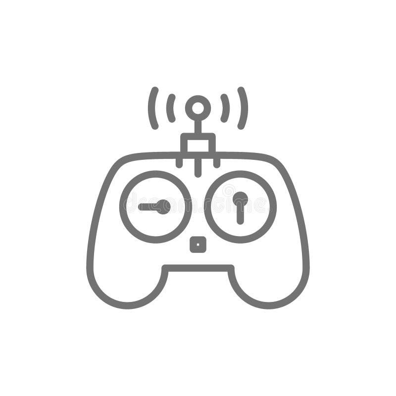 寄生虫的,遥远的控制器,gamepad线象控制板 库存例证