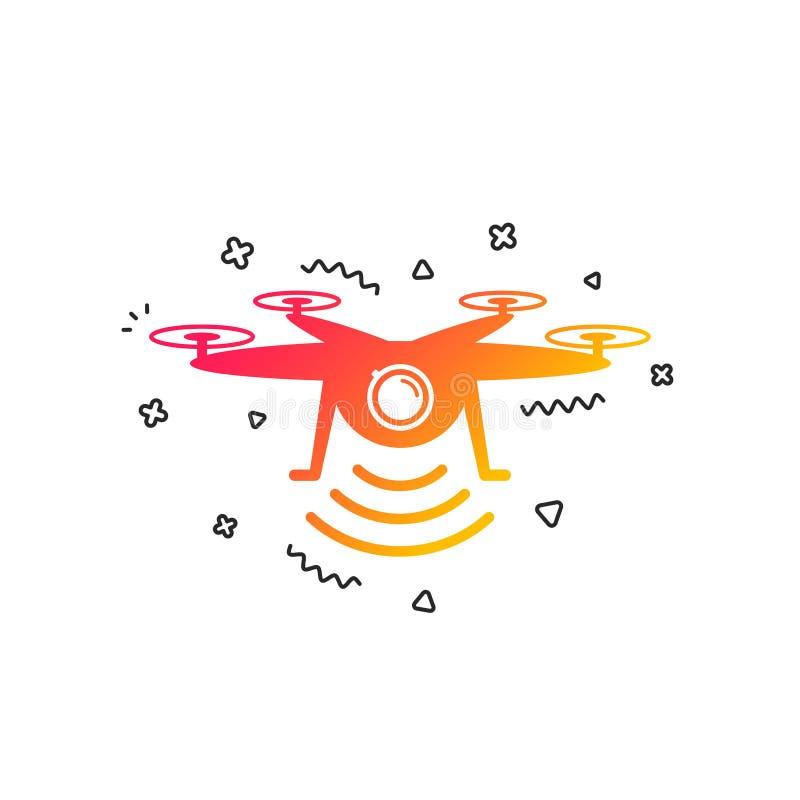 寄生虫象 与行动照相机的Quadrocopter 向量 向量例证