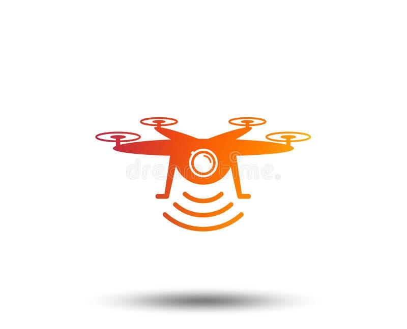 寄生虫象 与行动照相机的Quadrocopter 库存例证