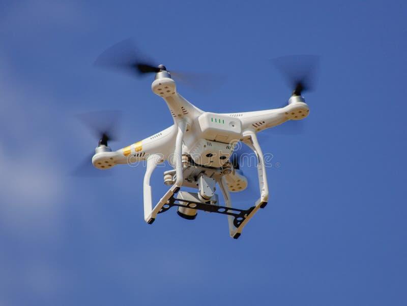 寄生虫飞行高速在天空 库存图片