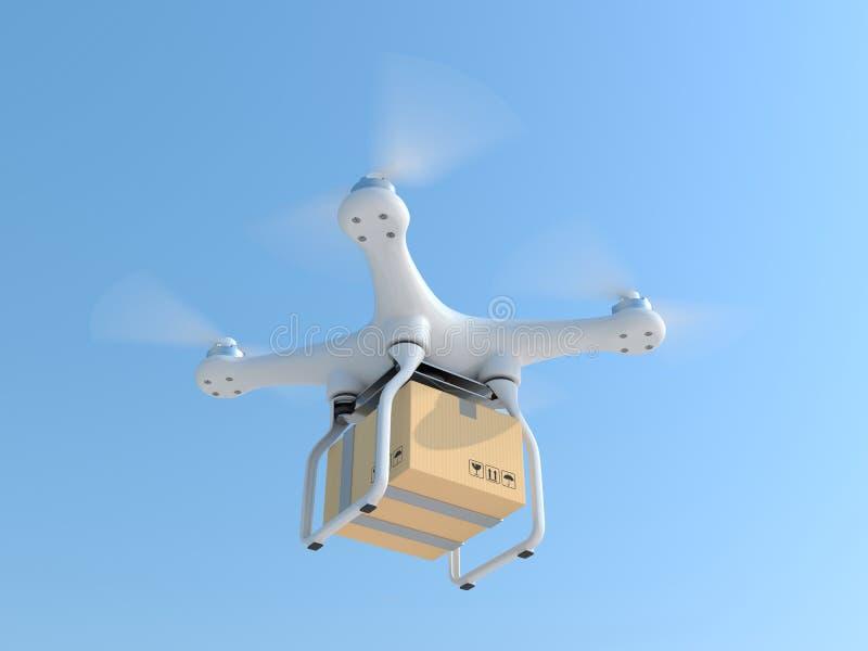 寄生虫quadcopter运载的邮箱 向量例证