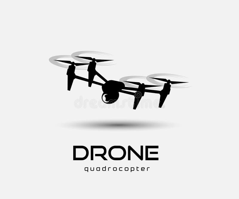 寄生虫quadrocopter摘要传染媒介例证 库存例证