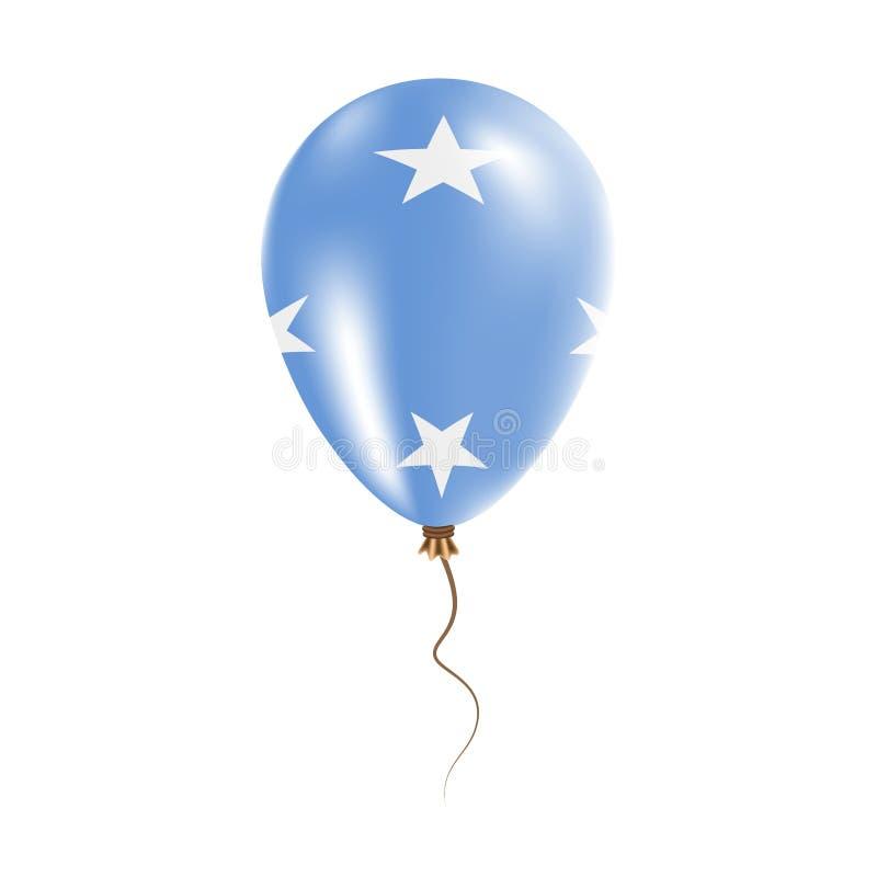 密克罗尼西亚,气球联盟的状态有旗子的 皇族释放例证
