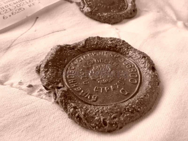 密封的印花税蜡 库存照片