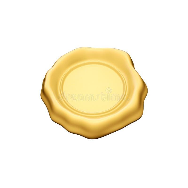 密封蜡黄色 向量例证