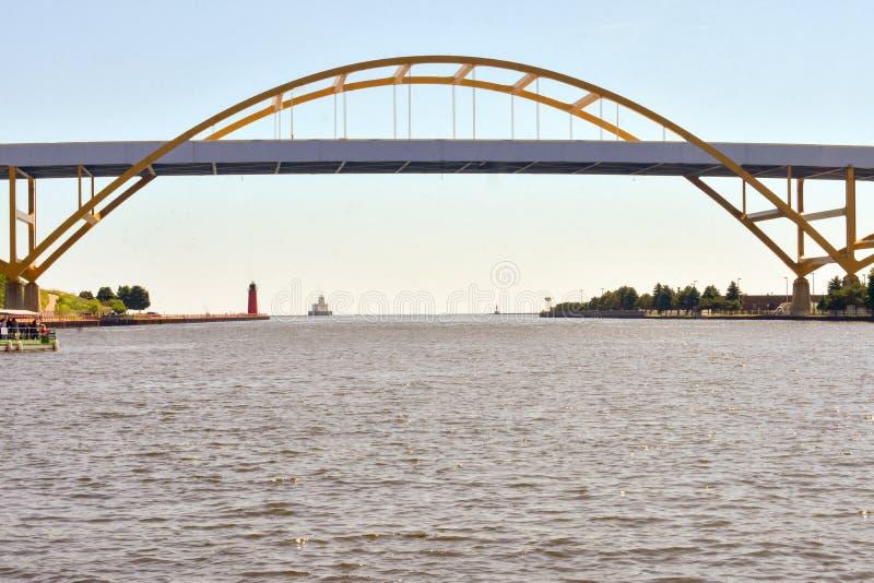 密尔沃基的Hoan桥梁 库存照片