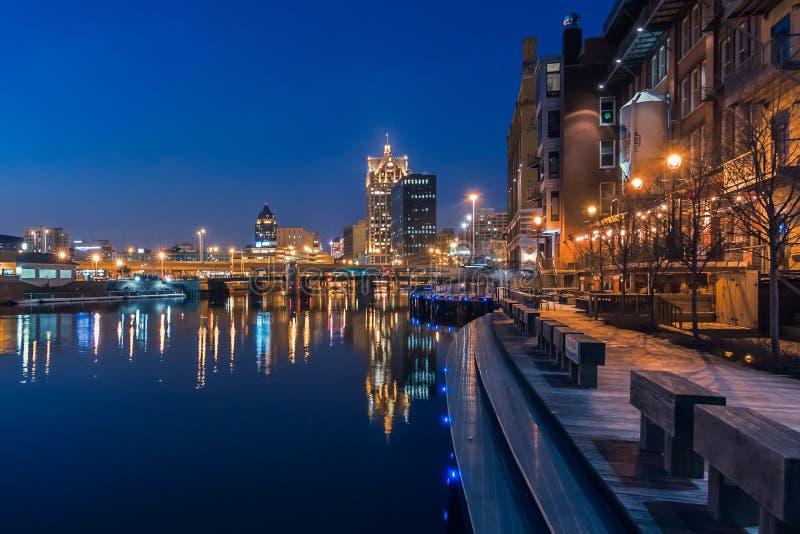 密尔沃基riverwalk 图库摄影