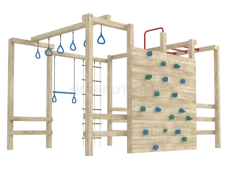 密林体操或爬升套架 库存例证