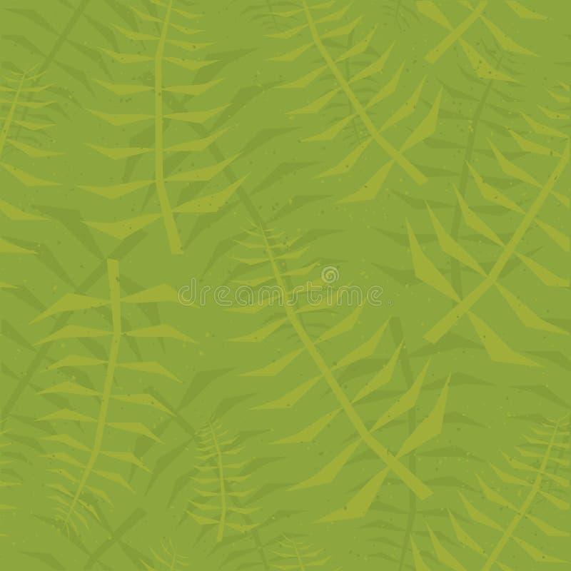 密林叶子无缝的绿色样式 皇族释放例证