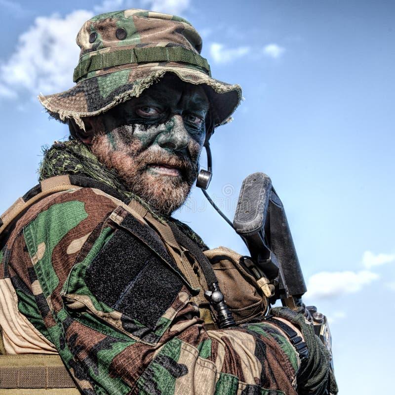 密林战争单位 库存图片