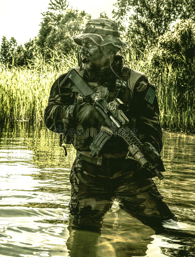 密林战争单位 免版税库存图片