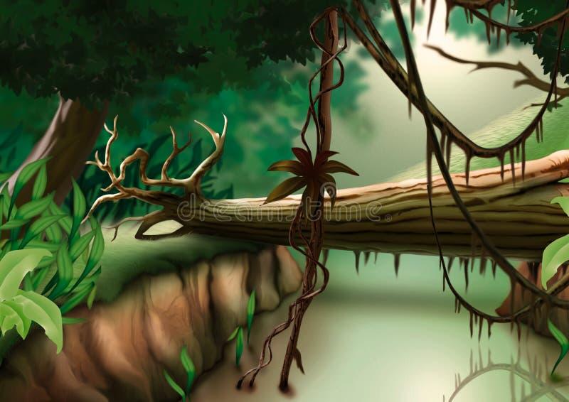 密林 向量例证