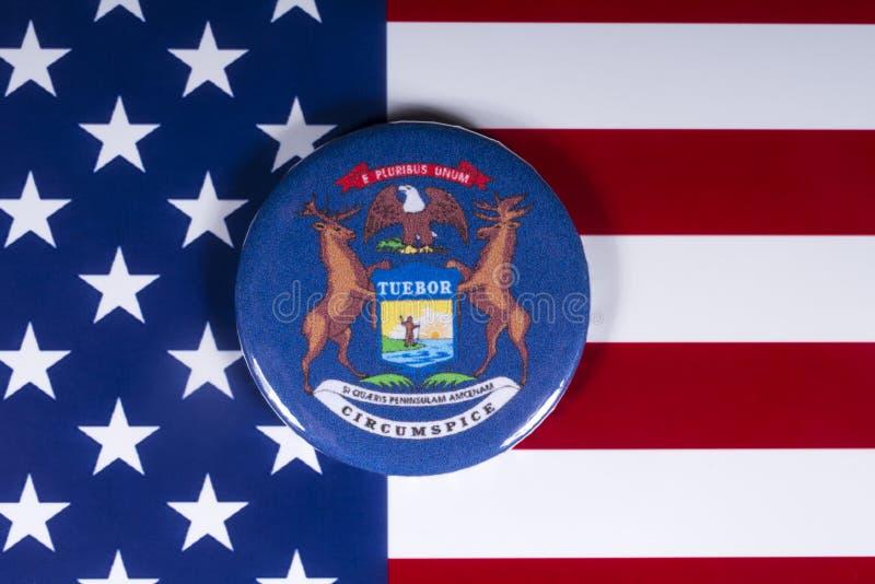 密歇根州在美国 免版税库存图片