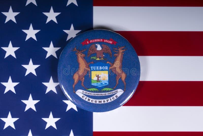 密歇根州在美国 库存照片