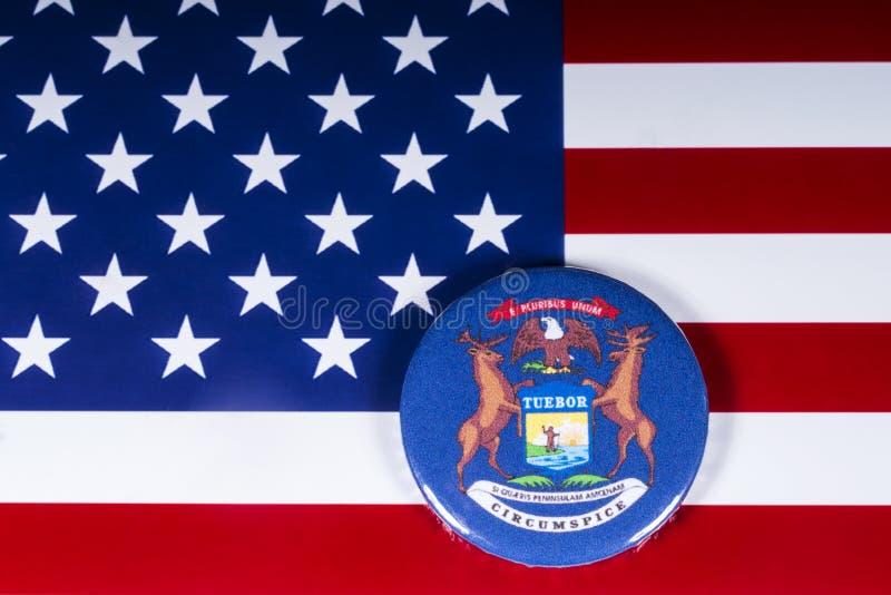 密歇根州在美国 免版税库存照片
