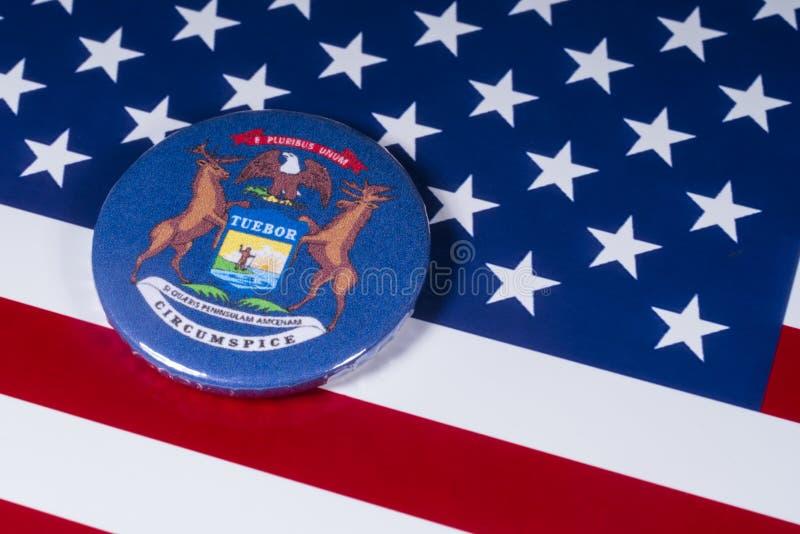 密歇根州在美国 库存图片