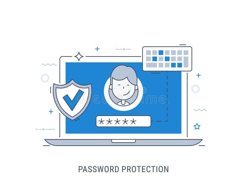 密码保护传染媒介例证 免版税图库摄影