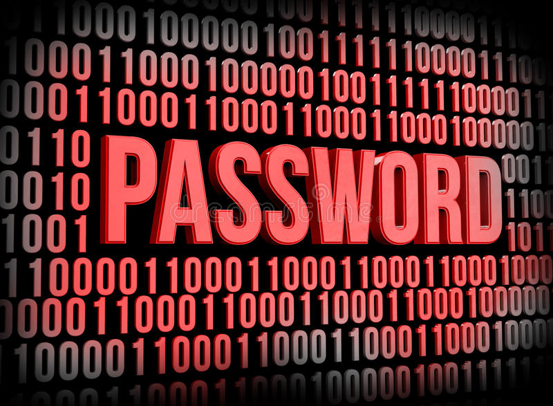 密码安全 皇族释放例证