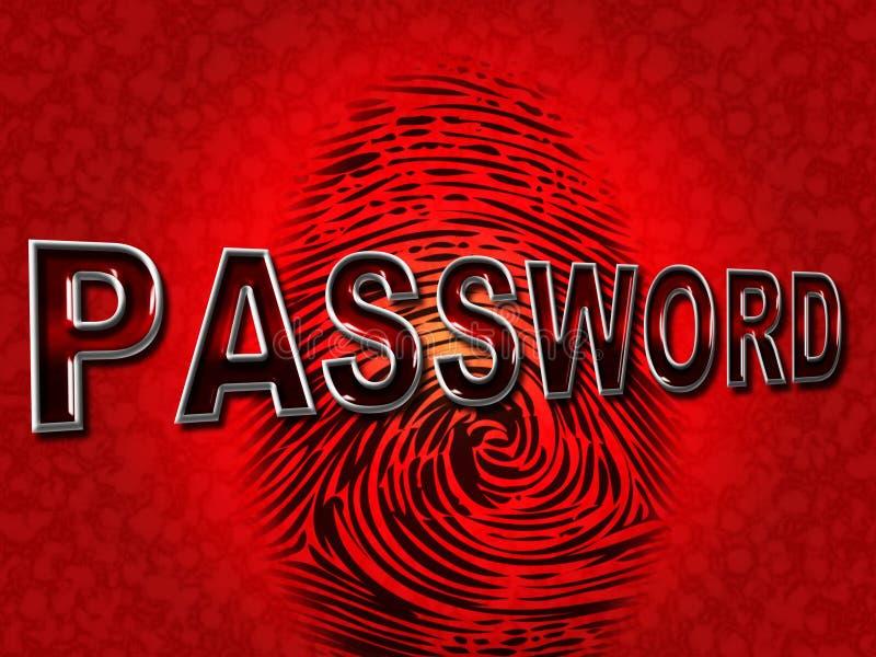 密码指纹显示日志Ins和容易接近 皇族释放例证