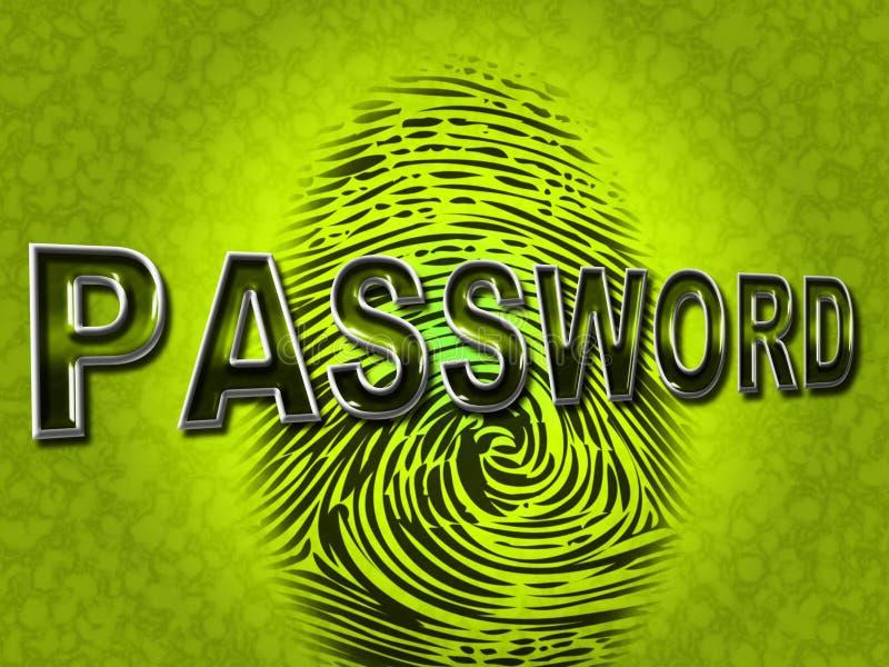 密码指纹表明日志Ins和容易接近 向量例证
