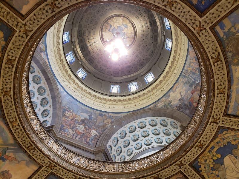 密苏里修造杰斐逊的状态国会大厦天花板  免版税库存图片