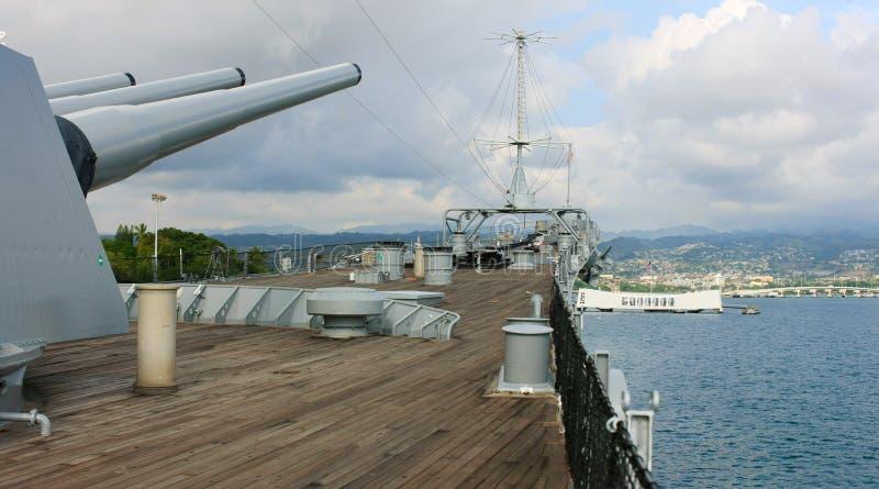 密苏里和亚利桑那珍珠港的,夏威夷 库存图片