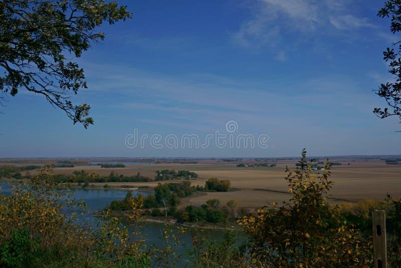 密苏里河俯视 免版税库存照片