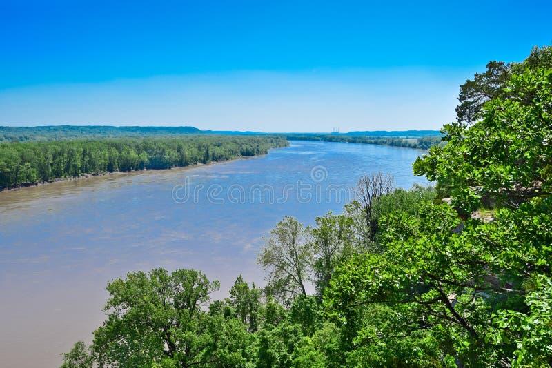 密苏里河 库存照片