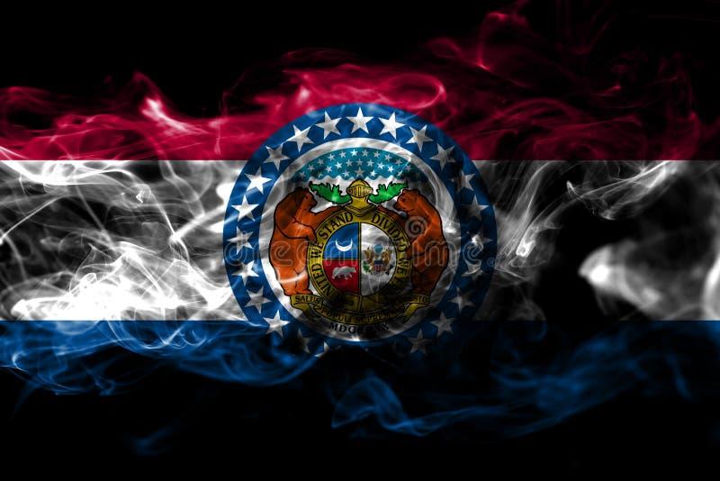 密苏里状态烟旗子,美利坚合众国 免版税库存图片