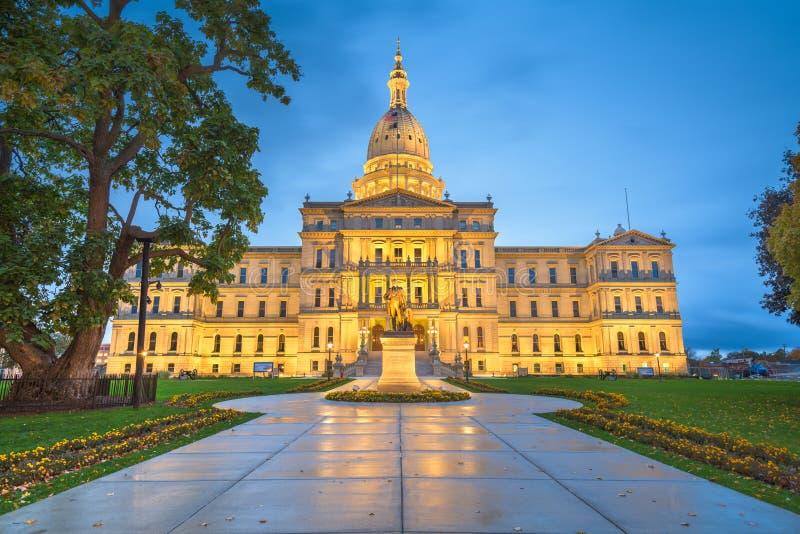 密西根州议会大厦 免版税图库摄影