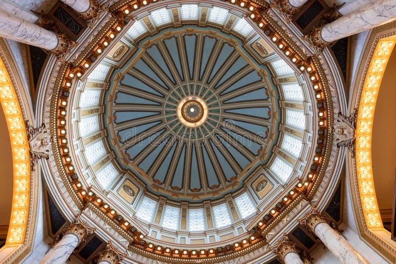 密西西比州国会大厦大厦的内部 库存图片