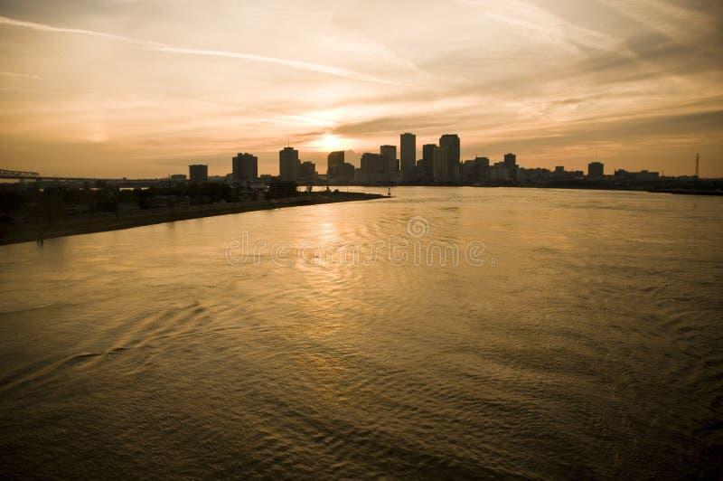 密西西比新的河场面 库存照片