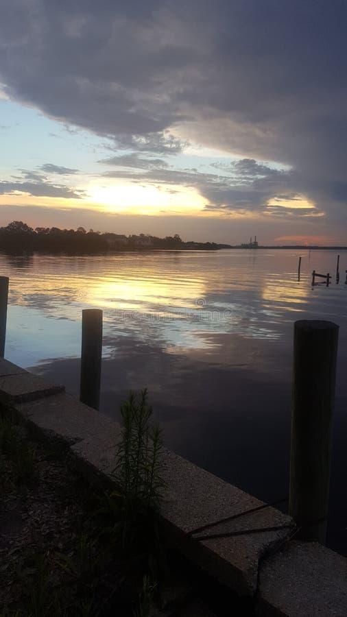 密西西比日落 图库摄影