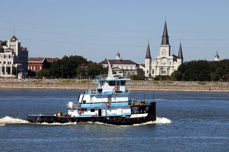 密西西比河在新奥尔良,路易斯安那 免版税库存照片