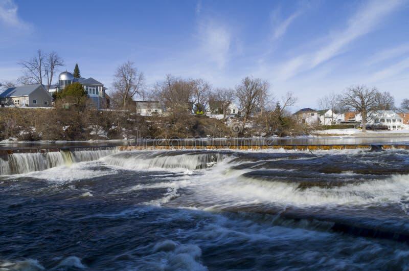 密西西比河,阿尔蒙特,安大略,加拿大 免版税库存照片