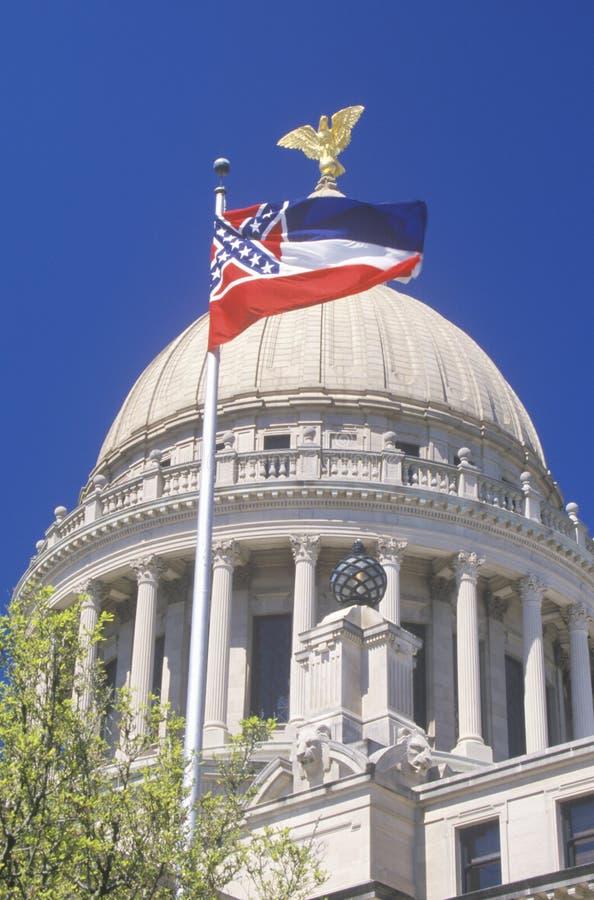 密西西比的状态国会大厦 免版税库存图片