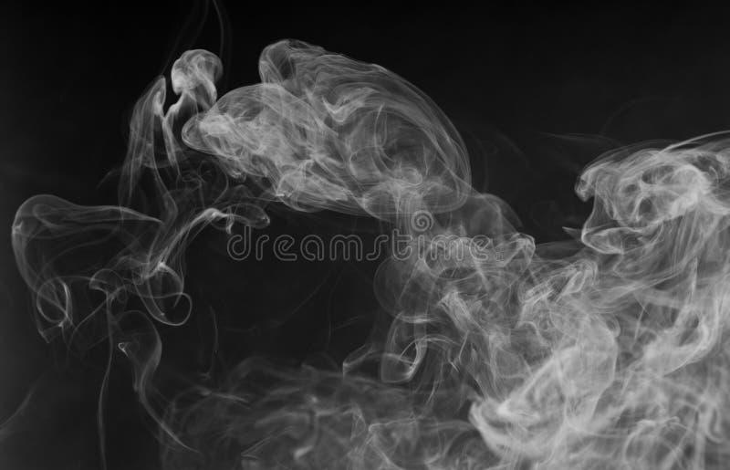 密集的空白烟 免版税库存图片