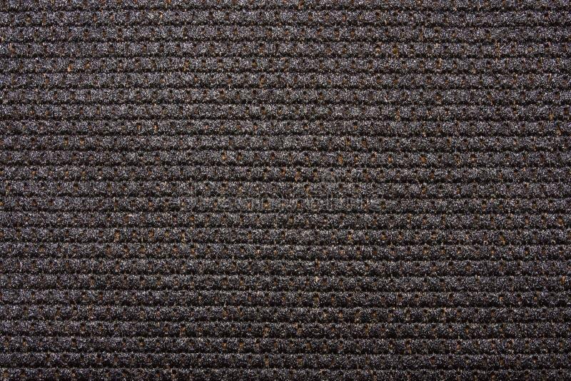 密集的黑编织物纹理 免版税图库摄影