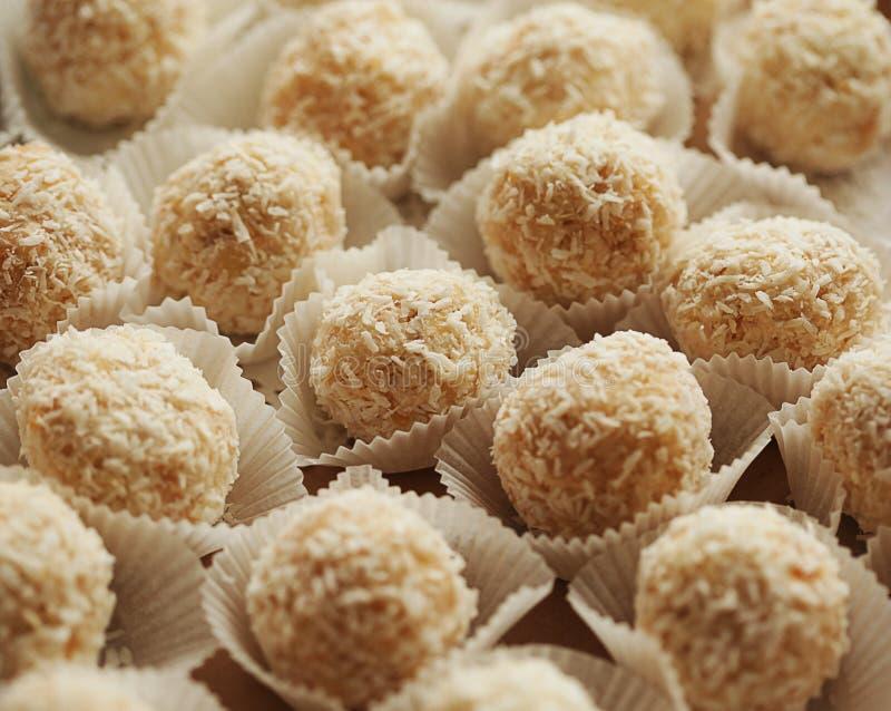 紧密chocolated甜果仁糖的变异 免版税库存图片