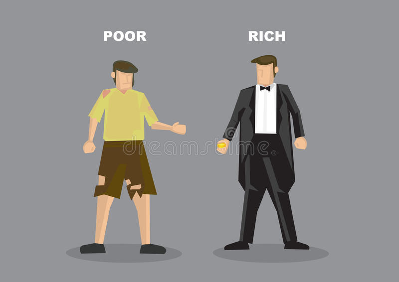 富人贫困者传染媒介例证 库存例证