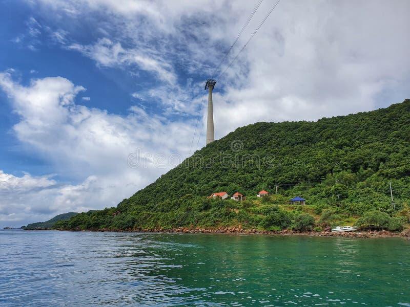 富国岛从海的海岛神色 库存照片