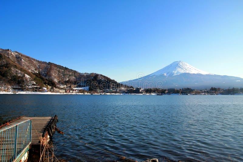 富士山和kawacuchiko湖, Kawacuchiko,日本 免版税库存图片