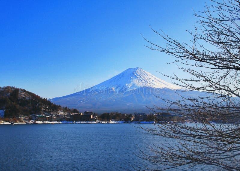 富士山和kawacuchiko湖, Kawacuchiko,日本 库存图片
