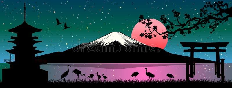 富士山日本风景 皇族释放例证