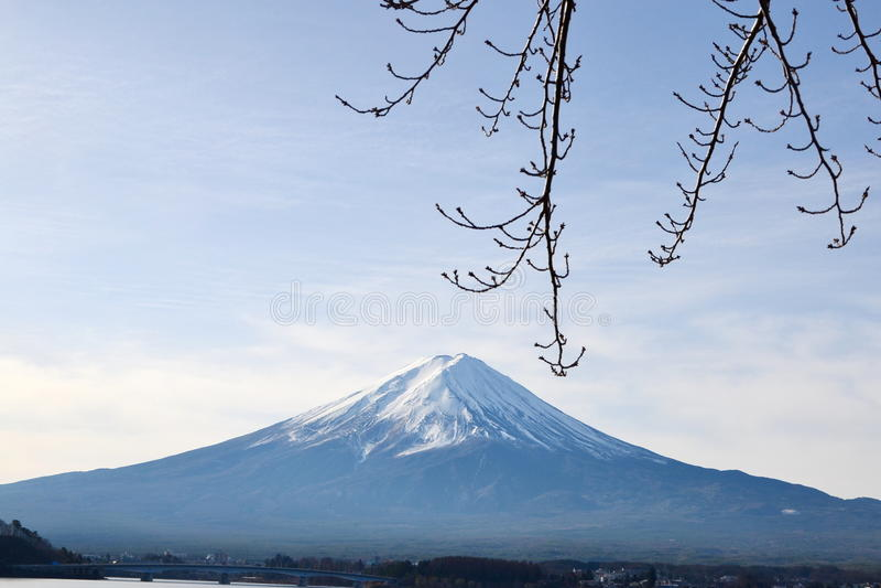 富士山,大对称山 库存图片