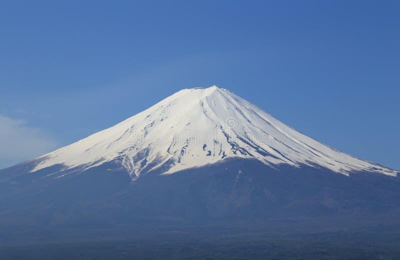 富士山,从湖Kawaguchiko的看法 库存图片