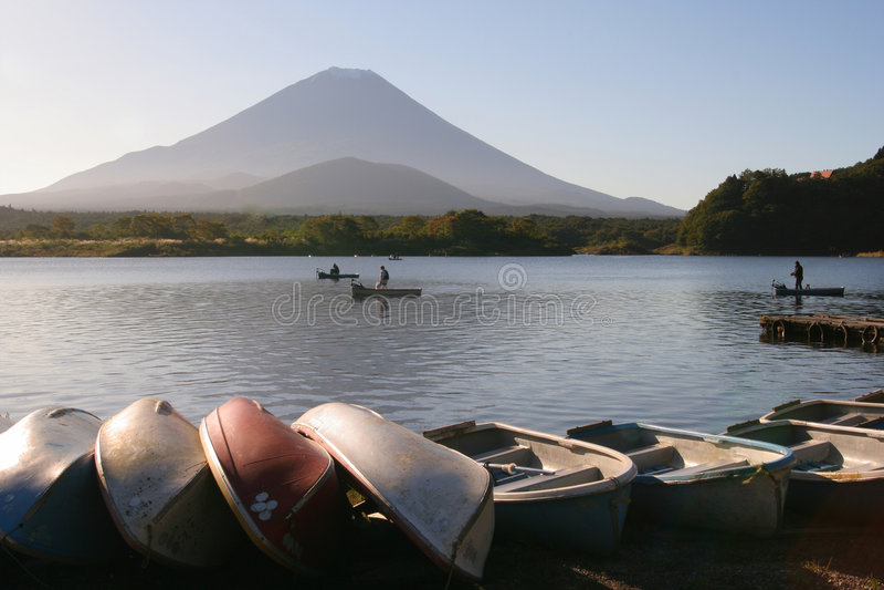 富士湖 库存图片