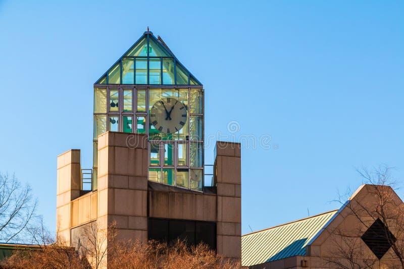 富尔顿县紧急通信钟楼,亚特兰大,美国 免版税库存图片
